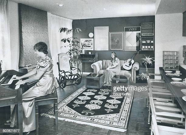 Luxurious interior of CNE prize house is exemplified in this picture of the living room taken from the entry at the kitchen end Debbie Griffin is at...