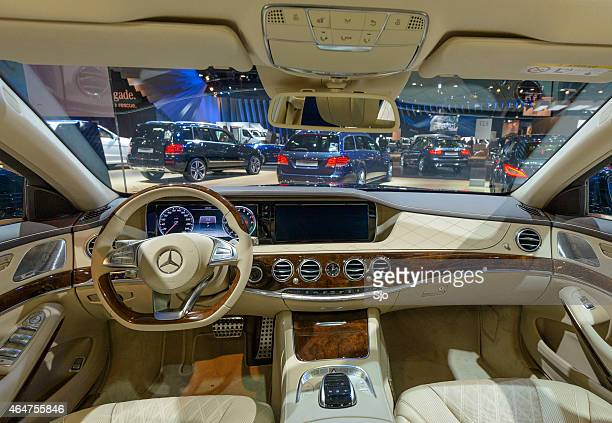 Luxurious interior on a Mercedes-Benz S-Class