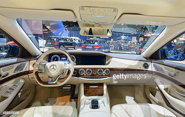 Luxurious interior on a Mercedes-Benz S-Class