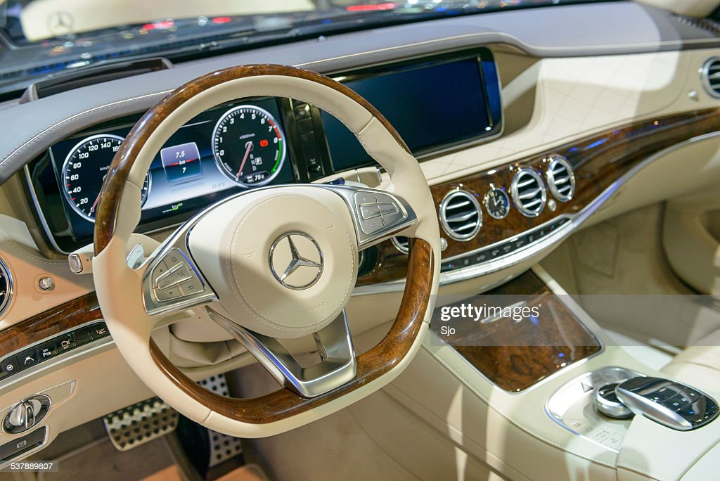 luxurious interior on a mercedesbenz sclass stock photo getty images. Black Bedroom Furniture Sets. Home Design Ideas