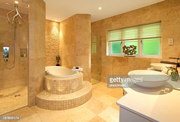 Luxueuse salle de bains en marbre