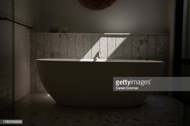 luxurious modern bathtub - luxury stock pictures, royalty-free photos & images
