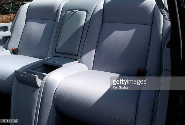 Luxurious Seats With Adjustable Heights In The New Bentley State Limousine Car Presented To Queen Elizabeth II As A Golden Jubilee Gift On Behalf Of...
