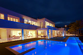 Luxurious villa with a big pool