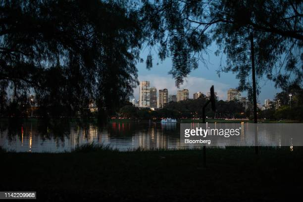 Luxury apartment buildings stand in the Vila Nova Conceicao neighborhood of Sao Paulo, on Monday, May 6, 2019. The luxury residential-property market...