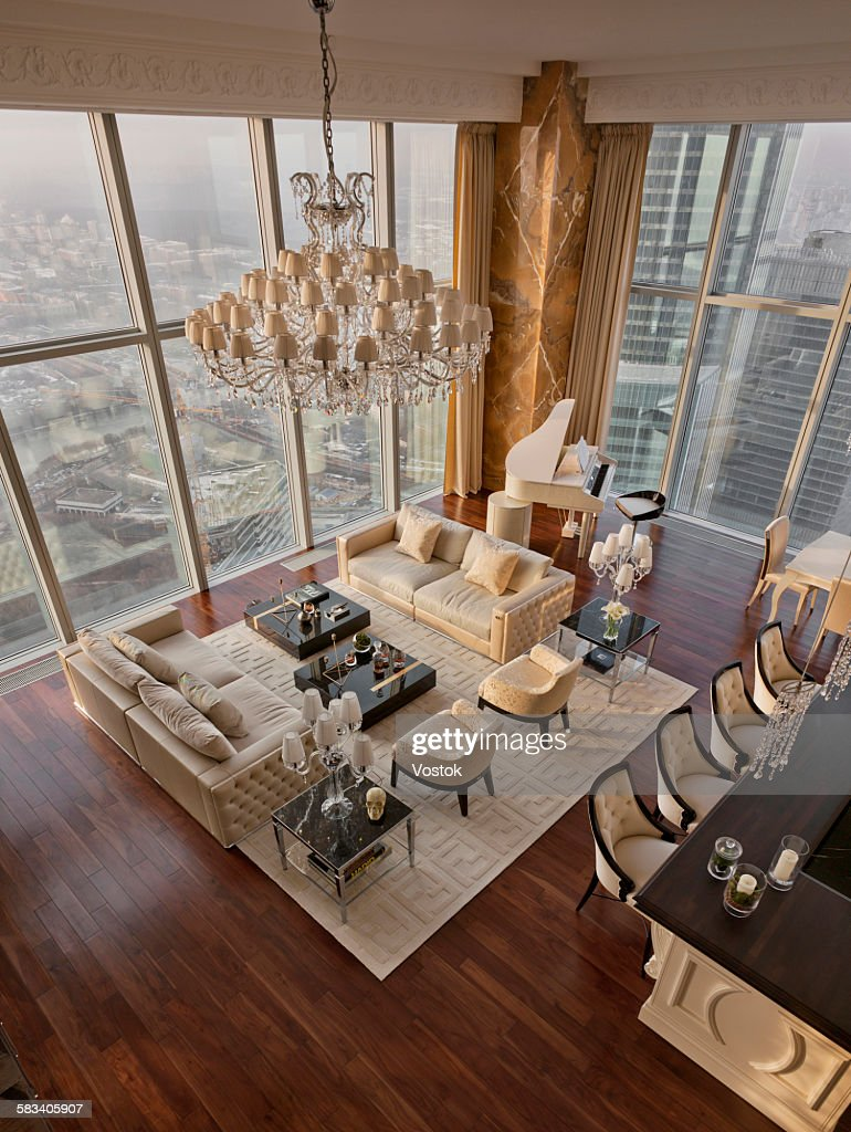 Luxury apartment in Moscow : Stock Photo