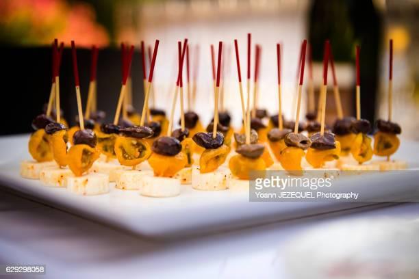 Luxury aperitif french food