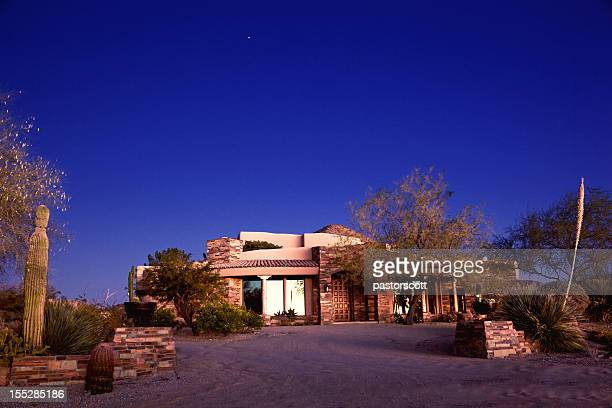 luxury arizona southwest home in desert of north scottsdale - phoenix arizona stock photos and pictures