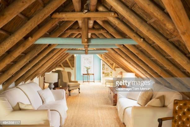 Luxury attic living room