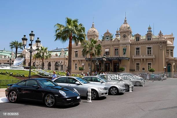 Luxury automobiles at Monte Carlo Casino