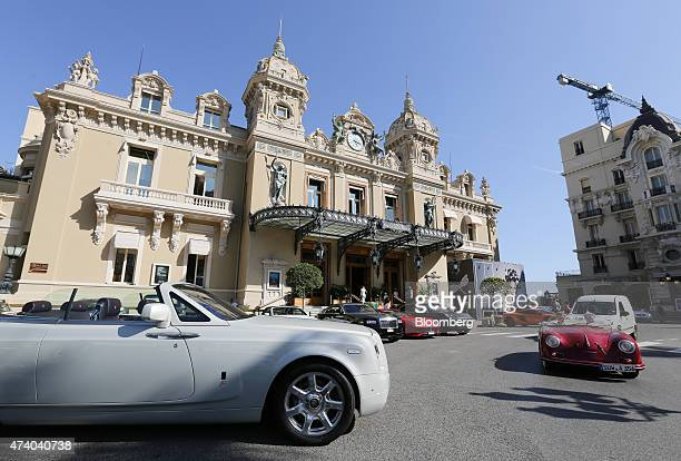 Luxury automobiles stand outside the Casino de MonteCarlo in Monaco on Monday May 18 2015 The ultraluxury housing market is scaling new heights as a...