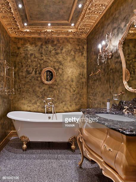 Luxury bathroom in a classic style in Moscow