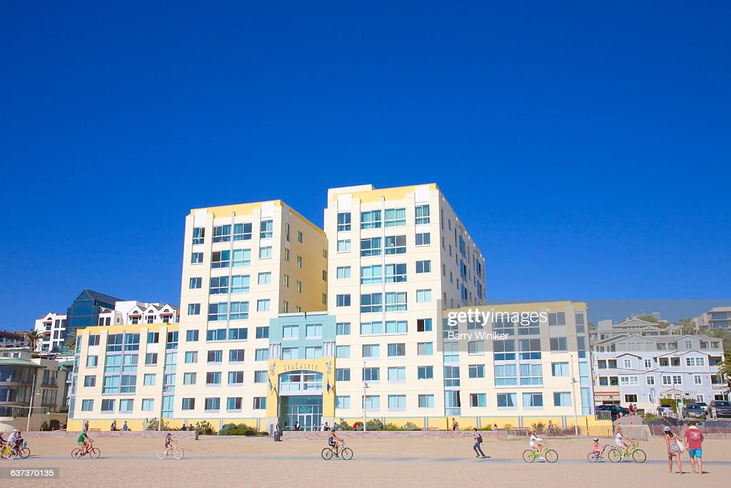 Luxury Beachfront Apartments Santa Monica Stock Photo