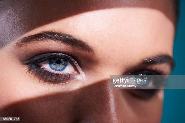 luxury beauty female - eye make up stock pictures, royalty-free photos & images