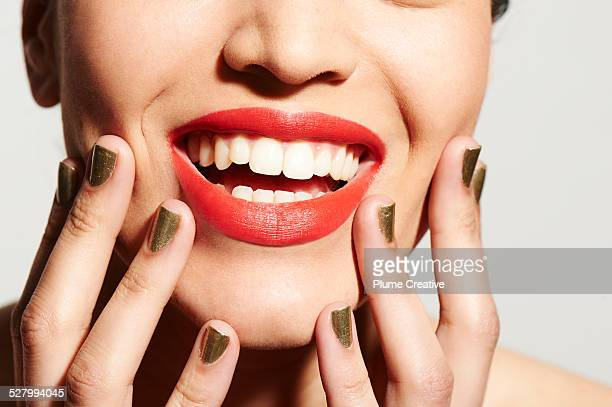 luxury beauty - red lipstick stock pictures, royalty-free photos & images