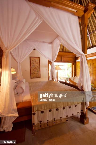 Luxury bedroom at Oberoi Hotel.