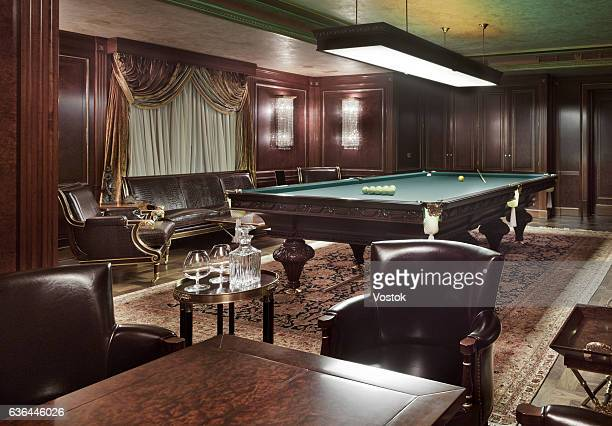 Luxury billiard room in a private house