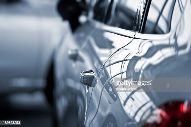 luxury car at public dealership - toned image stock pictures, royalty-free photos & images