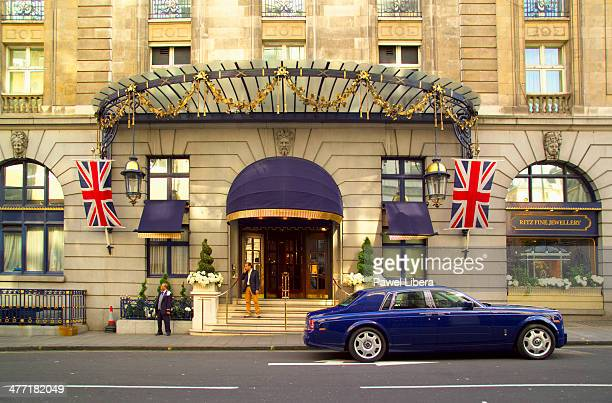 Luxury Car Parked at The Front of The Ritz Hotel in London