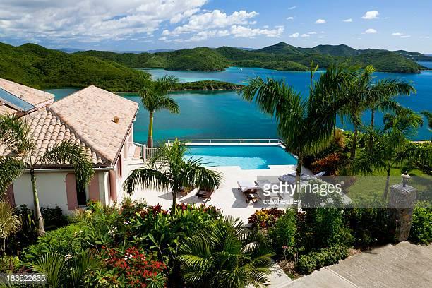 Luxuriöse Karibik-villa im Virgin Islands-Urlaub in den Tropen