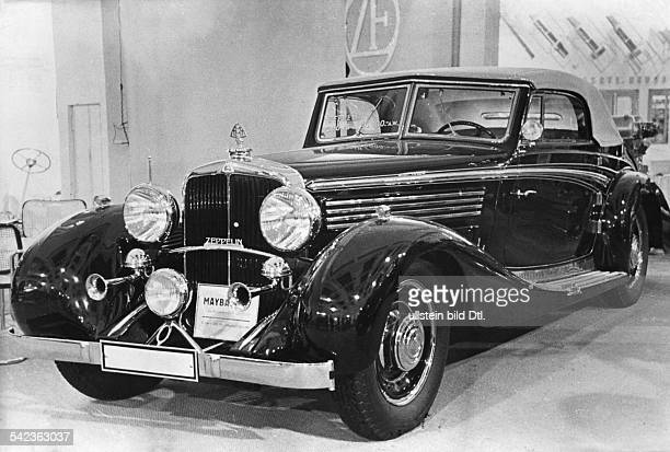 Luxury cars Maybach Zeppelin DS 8 Cabriolet exhibited at the Berlin Motor Show 1937 Photographer Paul Mai Published by 'BZ' Vintage property of...