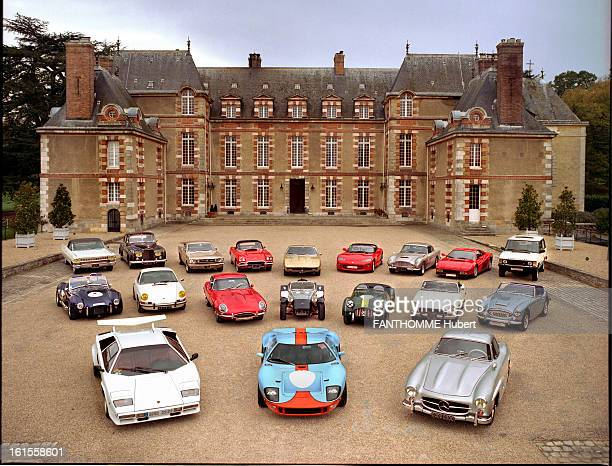 Luxury Cars Of Yesterday And Today 19 dream cars photographed in the courtyard of the castle TREMBLAYSURMAULDRE front row from left to right...