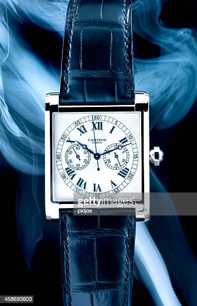 Luxus-Cartier Tank Mono Poussoir Armbanduhr