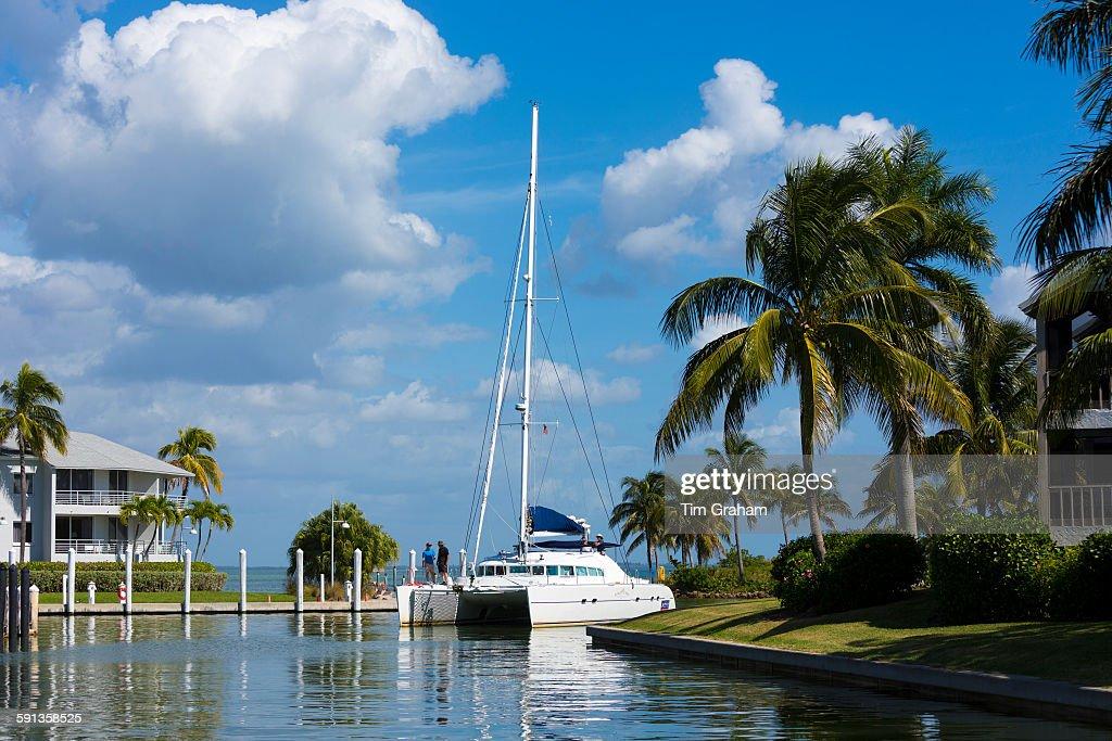 Catamaran Yacht, Captiva Island, Florida, USA : News Photo