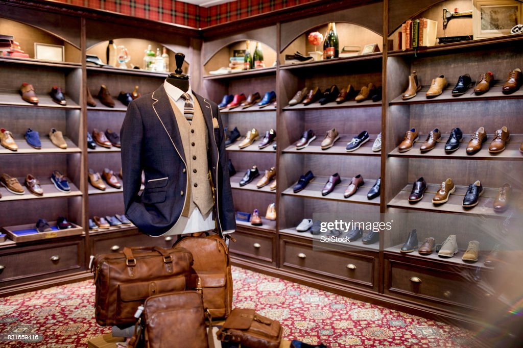 Luxury Clothing Shop for Men : Stock Photo