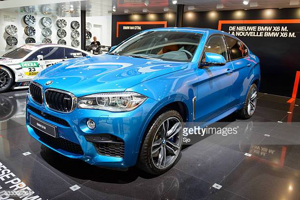 bmw x6 m luxury crossover suv - letter m stock pictures, royalty-free photos & images