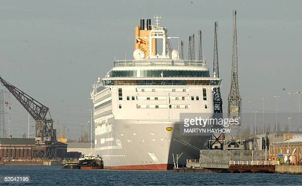 Luxury cruise liner Aurora lies at her berth in Southampton 21 January 2005. Ten days of patient waiting by more than 1,400 passengers aboard the...