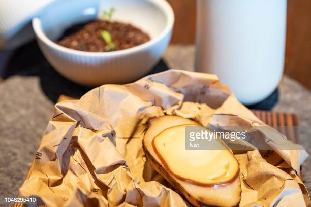 luxury cuisine, appetizer, smoked cheese finger food - baloney stock photos and pictures
