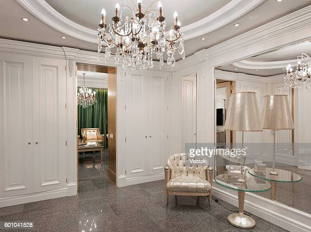 luxury entrance hall in a classic style in moscow - 唯一 ストックフォトと画像