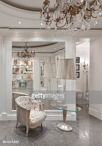 Luxury Entrance Hall In A Classic Style Moscow Stock Foto