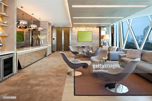 luxury executive lounge - carpet decor stock photos and pictures