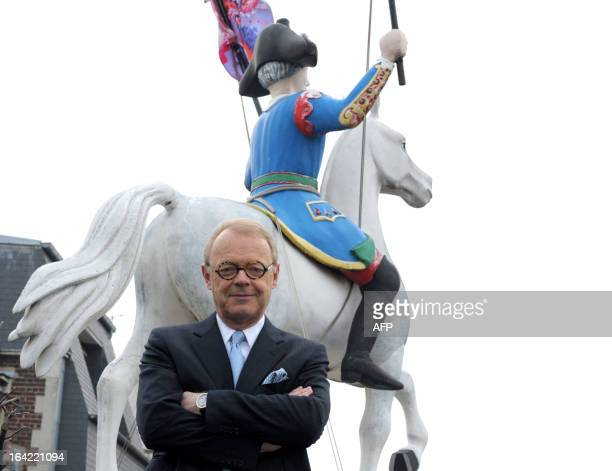 Luxury fashion group Hermes CEO Patrick Thomas poses at the Hermes headquarters in Paris prior to presenting the group's 2012 results on March 21...