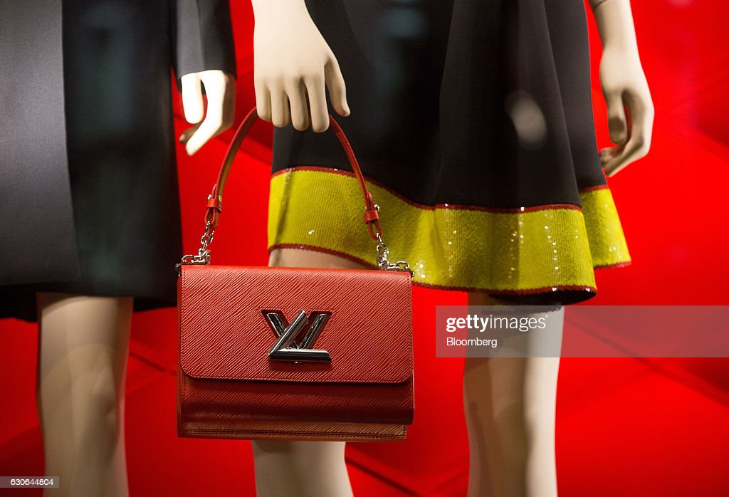 Luxury fashions and accessories sit on display at the Louis Vuitton boutique, operated by LVMH Moet Hennessy Vuitton SE, on Kamergersky lane in Moscow, Russia, on Wednesday, Dec. 28, 2016. President-elect Donald Trump said Wednesday that the U.S. should move on rather than retaliate against Russia for interfering in the 2016 election, with the Obama administration expected to soon take action against Moscow. Photographer: Andrey Rudakov/Bloomberg via Getty Images
