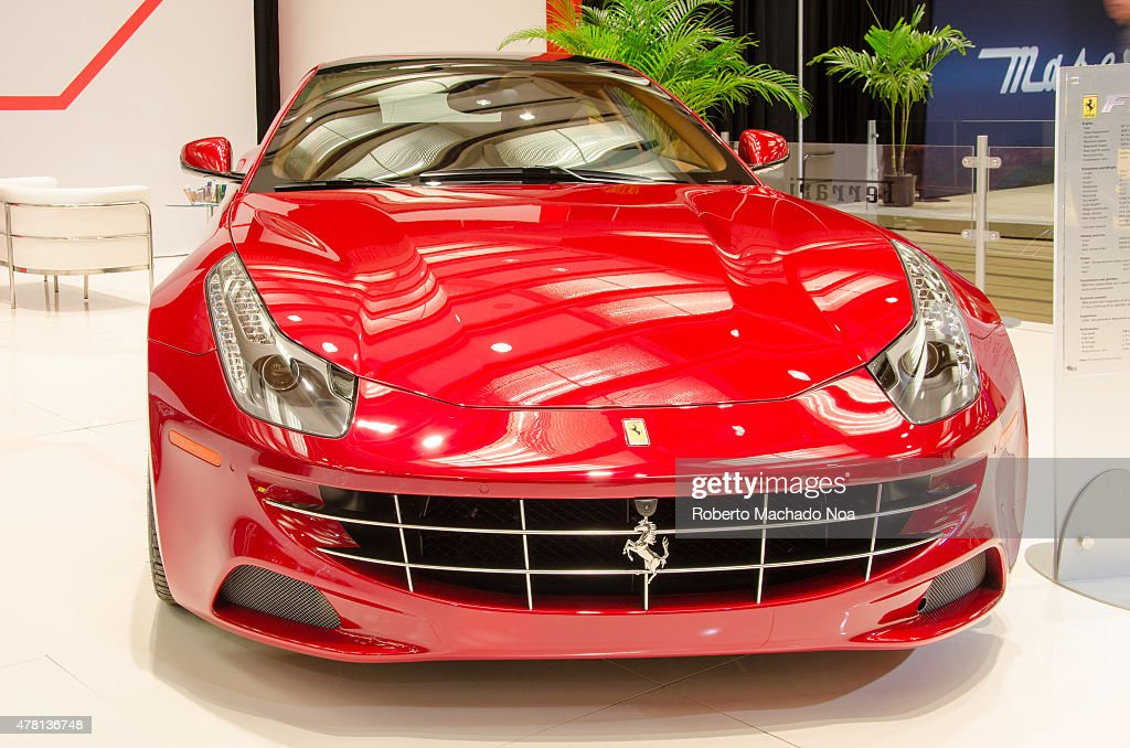 Luxury Ferrari Red Car On The Stand In Canada International Auto Nachrichtenfoto Getty Images