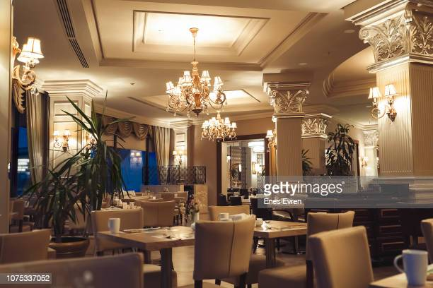 luxury five stars hotel restaurant - exclusive stock pictures, royalty-free photos & images