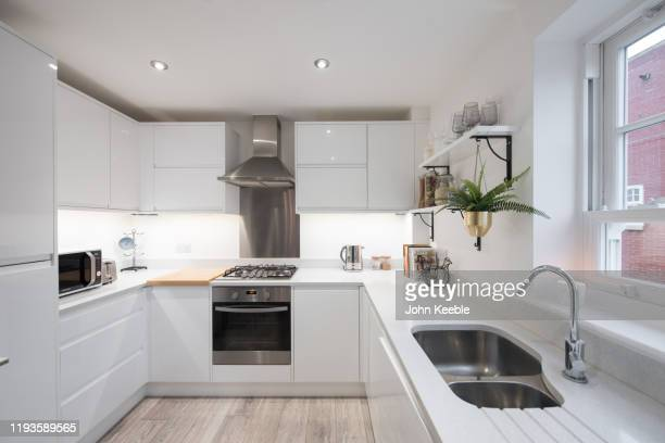 luxury flat interiors - shiny stock pictures, royalty-free photos & images