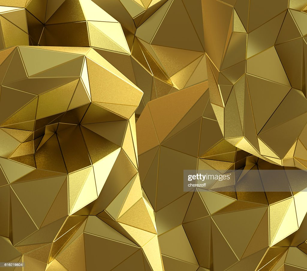 Luxury gold abstract triangle background : Stock Photo