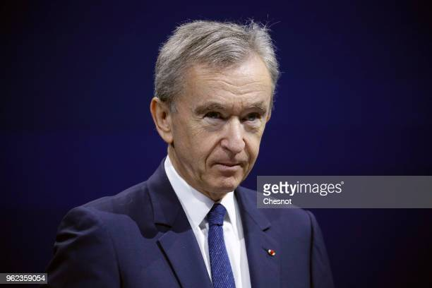 Luxury group CEO Bernard Arnault attends the Viva Technology show at Parc des Expositions Porte de Versailles on May 25, 2018 in Paris, France. Viva...