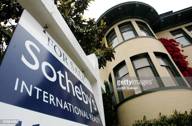 A luxury home is seen for sale May 26 2005 in the Pacific Heights neighborhood of San Francisco California According to a study released Wednesday by...