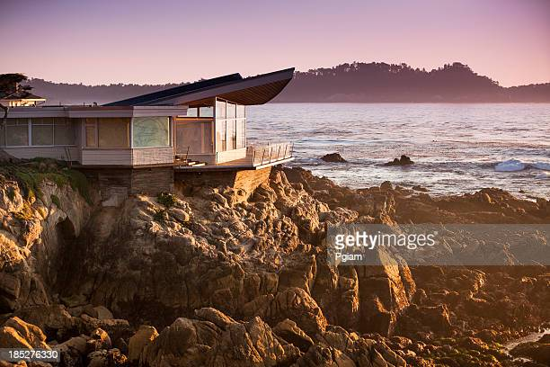Luxury home overlooks the Big Sur, Coastline and sea