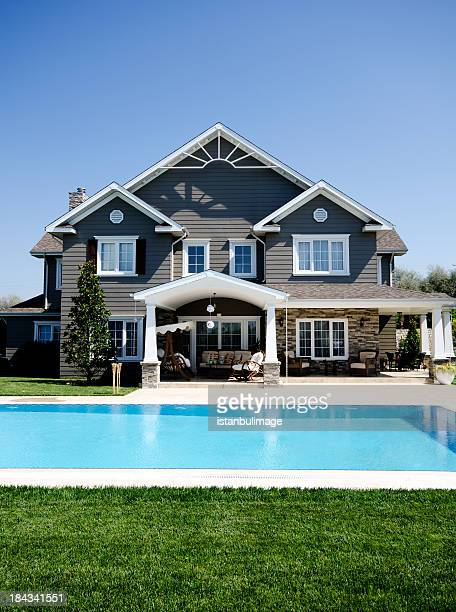 luxury home - florida landscaping stock pictures, royalty-free photos & images