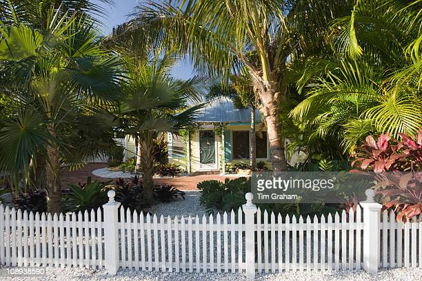 Luxury home with picket fence at the vacation resort of Anna Maria Island Florida United States of America