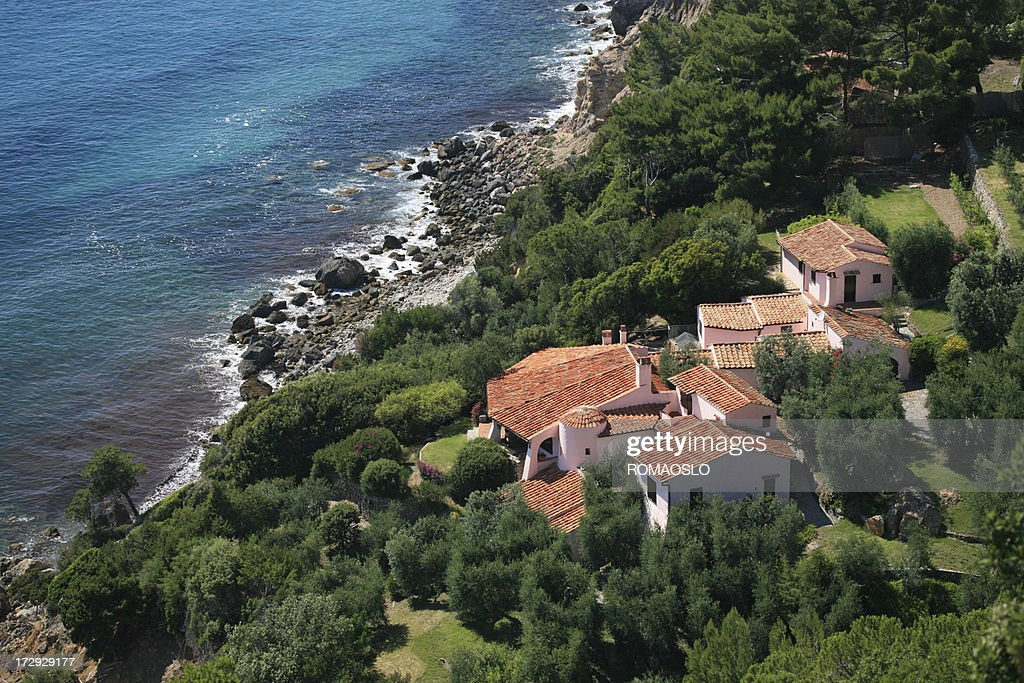 Luxury Homes By The Sea In Tuscany, Italy : Stock Photo