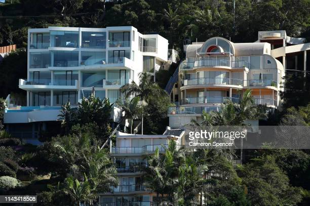 Luxury homes overlooking The Spit Bridge in Seaforth located in the electorate of Warringah on April 18 2019 in Sydney Australia The electorate of...