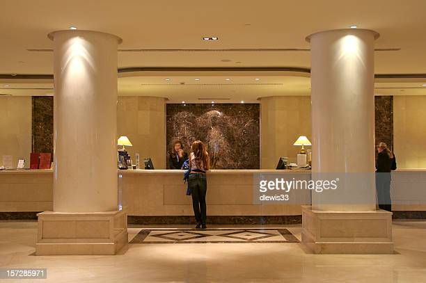 Hotel reception stock photos and pictures getty images for Hotel reception design