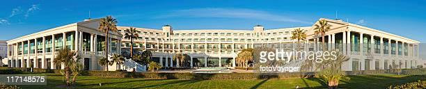 Luxury hotel resort sunrise panorama